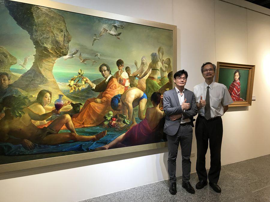 結合歷史時事與西方圖像學    彰化生美館展出林欽賢知性畫作