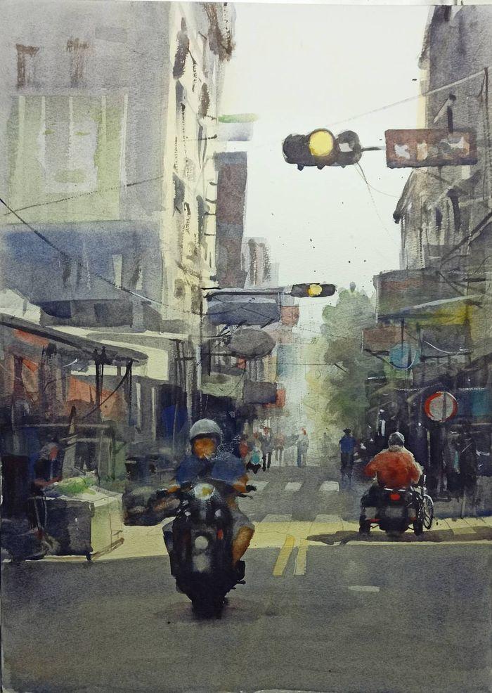 日常街景入畫獲國際獎項   謝政憲讓世界看見彰化之美